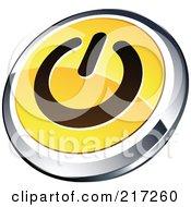 Shiny Yellow Black And Chrome Power App Icon Button