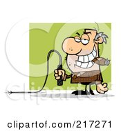 Royalty Free RF Clipart Illustration Of A Mean Boss Holding A Whip In His Hand And Smoking A Cigar