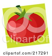 Royalty Free RF Clipart Illustration Of A Red Heirloom Tomato by Hit Toon