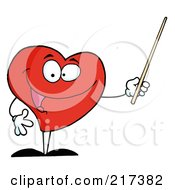 Red Heart Using A Pointer Stick by Hit Toon