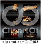 Royalty Free RF Clipart Illustration Of A Digital Collage Of Gold And Black Business Card Designs