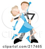 Royalty Free RF Clipart Illustration Of A Slender Couple Tango Dancing