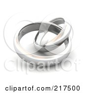 Royalty Free RF Clipart Illustration Of 3d Silver Wedding Bands