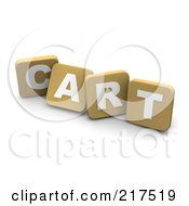3d Tan Blocks Spelling CART