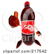 Royalty Free RF Clipart Illustration Of A 3d Soda Bottle Holding A Thumbs Up