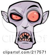 Royalty Free RF Clipart Illustration Of An Evil Purple Dracula Face by John Schwegel #COLLC217571-0127