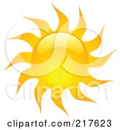 Royalty Free RF Clipart Illustration Of A Shiny Orange Hot Summer Sun Design Element 11