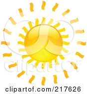 Royalty Free RF Clipart Illustration Of A Shiny Orange Hot Summer Sun Design Element 10