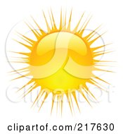 Royalty Free RF Clipart Illustration Of A Shiny Orange Hot Summer Sun Design Element 12