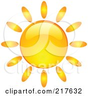 Royalty Free RF Clipart Illustration Of A Shiny Orange Hot Summer Sun Design Element 5