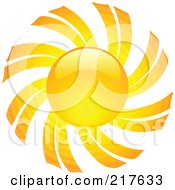 Shiny Orange Hot Summer Sun Design Element - 4