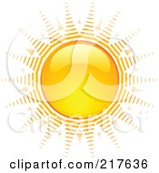 Royalty Free RF Clipart Illustration Of A Shiny Orange Hot Summer Sun Design Element 2