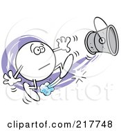 Royalty Free RF Clipart Illustration Of A Moodie Character Kicking The Bucket