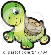 Royalty Free RF Clipart Illustration Of A Cute Tortoise by Lal Perera