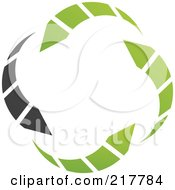 Royalty Free RF Clipart Illustration Of An Abstract Green And Black Circle Arrow Logo Icon by cidepix #COLLC217784-0145