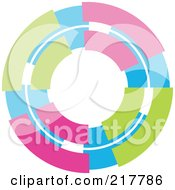 Royalty Free RF Clipart Illustration Of A Pastel Colored Design Element Or Logo 6