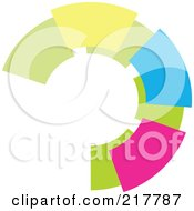 Royalty Free RF Clipart Illustration Of A Pastel Colored Design Element Or Logo 16