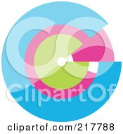 Royalty Free RF Clipart Illustration Of A Pastel Colored Design Element Or Logo 7