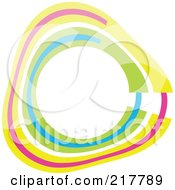 Royalty Free RF Clipart Illustration Of A Pastel Colored Design Element Or Logo 10