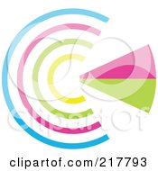 Royalty Free RF Clipart Illustration Of A Pastel Colored Design Element Or Logo 9