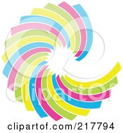 Royalty Free RF Clipart Illustration Of A Pastel Colored Design Element Or Logo 4 by KJ Pargeter