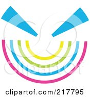 Royalty Free RF Clipart Illustration Of A Pastel Colored Design Element Or Logo 13