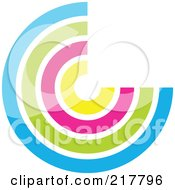 Royalty Free RF Clipart Illustration Of A Pastel Colored Design Element Or Logo 15