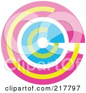 Royalty Free RF Clipart Illustration Of A Pastel Colored Design Element Or Logo 8