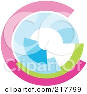 Royalty Free RF Clipart Illustration Of A Pastel Colored Design Element Or Logo 2