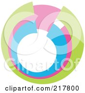 Royalty Free RF Clipart Illustration Of A Pastel Colored Design Element Or Logo 11