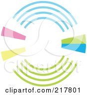 Pastel Colored Design Element Or Logo - 5
