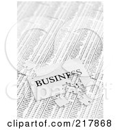 Royalty Free RF Clipart Illustration Of An Incomplete Business Puzzle Over Stock Charts by stockillustrations