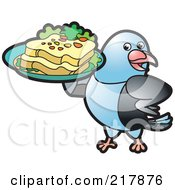 Blue Pigeon Serving Bread