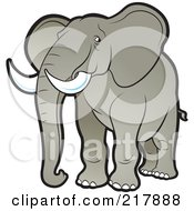 Royalty Free RF Clipart Illustration Of A Tan Elephant by Lal Perera