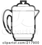 Royalty Free RF Clipart Illustration Of An Outlined Pitcher