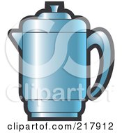 Royalty Free RF Clipart Illustration Of A Blue Pitcher
