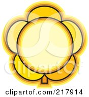 Royalty Free RF Clipart Illustration Of A Yellow Flower