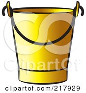 Royalty Free RF Clipart Illustration Of A Golden Bucket