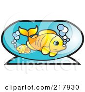 Royalty Free RF Clipart Illustration Of Goldfish In A Bowl