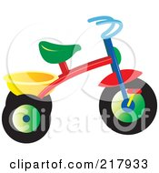 Royalty Free RF Clipart Illustration Of A Colorful Trike 1 by Lal Perera