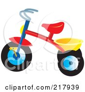 Royalty Free RF Clipart Illustration Of A Colorful Trike 2 by Lal Perera