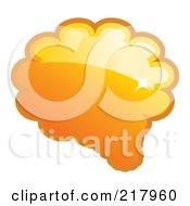Royalty Free RF Clipart Illustration Of A Shiny Orange Word Chat Or Speech Balloon Icon