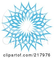 Royalty Free RF Clipart Illustration Of A Beautiful Ornate Blue Icy Snowflake Design Element 5