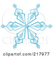 Royalty Free RF Clipart Illustration Of A Beautiful Ornate Blue Icy Snowflake Design Element 2