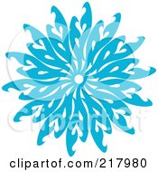 Royalty Free RF Clipart Illustration Of A Beautiful Ornate Blue Icy Snowflake Design Element 7