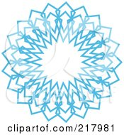 Royalty Free RF Clipart Illustration Of A Beautiful Ornate Blue Icy Snowflake Design Element 3