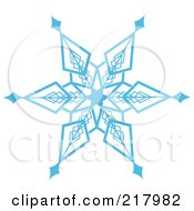 Royalty Free RF Clipart Illustration Of A Beautiful Ornate Blue Icy Snowflake Design Element 8