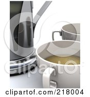 3d Cup Of Coffee By A Percolator