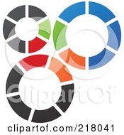 Royalty Free RF Clipart Illustration Of An Abstract Gear Logo Icon 2