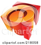 Royalty Free RF Clipart Illustration Of An Abstract 3d Orange And Red Swirl Logo Icon by cidepix